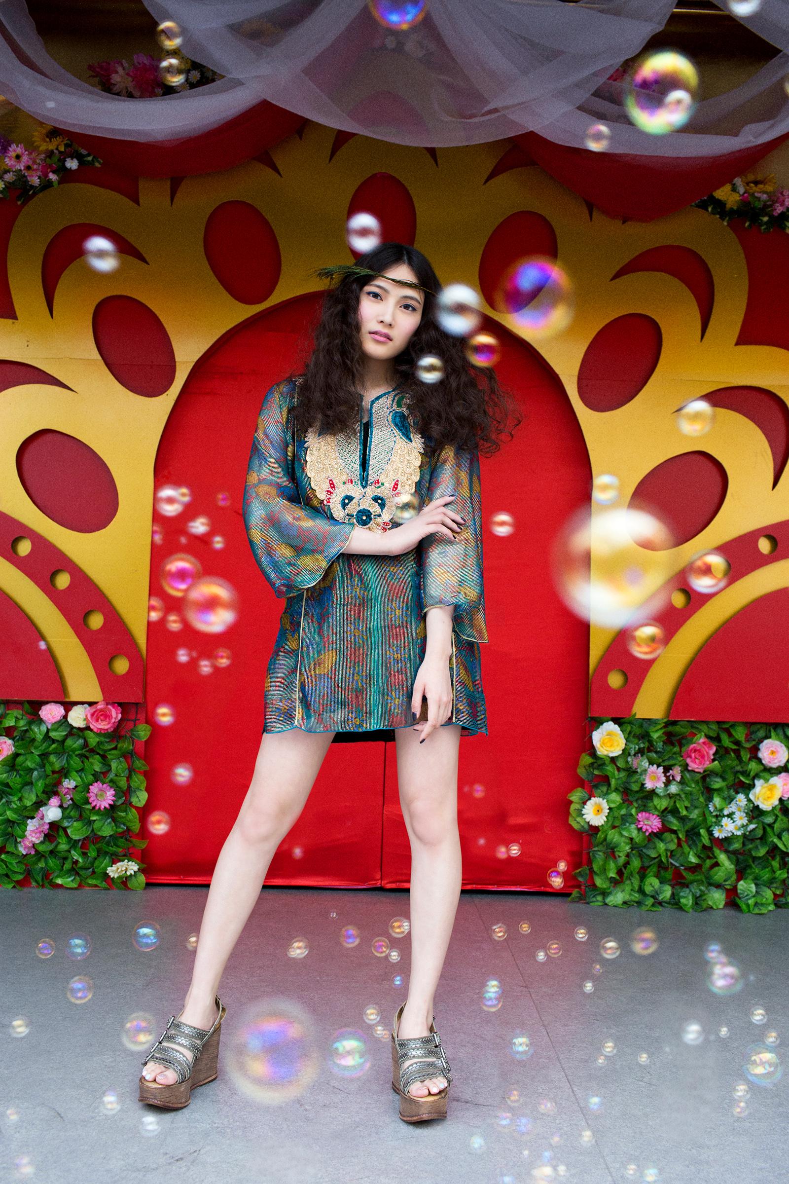 2015SS:カタログ&雑誌M-girlタイアップ(MODEL:入山杏奈)